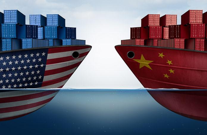 US China trade ships