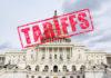 Tariff Stamp on United States Capitol
