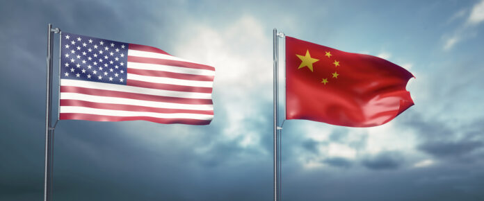 US Flag and Republic of China Flag