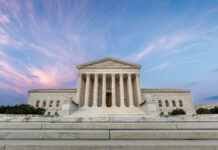 The US Supreme Court Building in Washington, D.C.