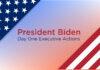 President Biden Day One Executive Actions