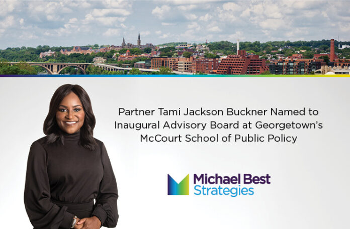 Partner Tami Buckner Named to Inaugural Advisory Board at Georgetown's McCourt School of Public Policy
